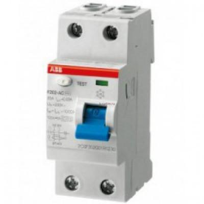 УЗО F202 A-40/0,03 Блок утечки тока (УЗО) 2-полюс. 40A 30mA, тип А ABB
