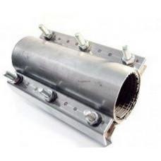 D100 Хомут составной из нержавеющей стали D108-118, L250