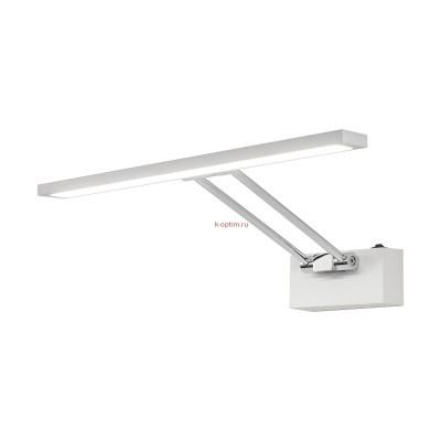 Бра (Настенный) светодиодный с выключателем Citilux Визор CL708350 Белый+Хром