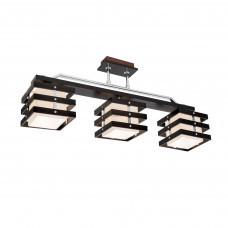 Люстра потолочная Citilux Киото CL133231 Венге + Хром