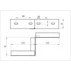 Соединитель переходной для изменения ширины трассы НЛ-СПШ П1.87 (левый/правый)