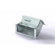 Короб кабельный блочный угловой с поворотом вверх на 45º одноканальный