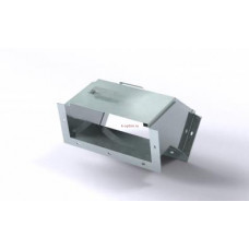 Короб кабельный блочный угловой с поворотом вниз на 45º одноканальный