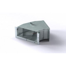 Короб кабельный блочный угловой горизонтальный с углом поворота на 45º одноканальный