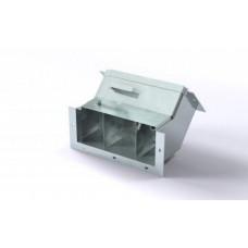 Короб кабельный блочный угловой с поворотом вверх на 45º трехканальный