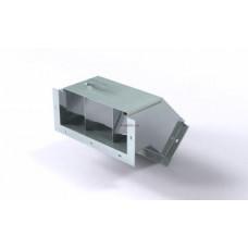 Короб кабельный блочный угловой с поворотом вниз на 45º трехканальный