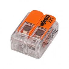 Клемма WAGO 221-412 2х4.0 с рычажком 100шт