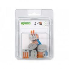Мини-упаковка клемм WAGO 222-415/996-005 5х2.5 с рычажком в блистере 5шт