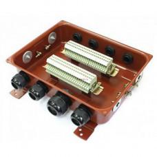 Клеммная Коробка с зажимами наборными КЗНС-48 У2 IP54 пластиковый ввод ЗЭТАРУС