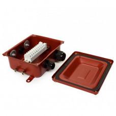 Клеммная Коробка с зажимами наборными КЗНС-08 У2 IP54 пластиковый ввод ЗЭТА