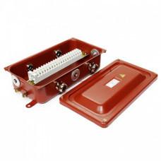 Клеммная Коробка с зажимами наборными КЗНС-16 УХЛ1,5 IP65 латунный ввод ЗЭТА