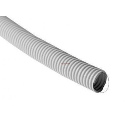 Труба ПВХ гофрированная 16 мм легкого типа с зондом