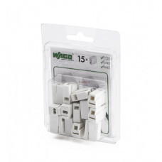 Мини-упаковка осветительных клемм WAGO 224-112/996-015 2,5 белые с пастой блистер 15шт