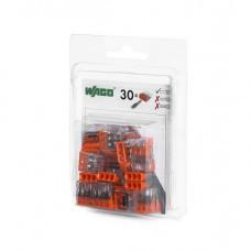 Мини-упаковка осветительных клемм WAGO 2273-203/996-030 3х2.5 в блистере 30шт