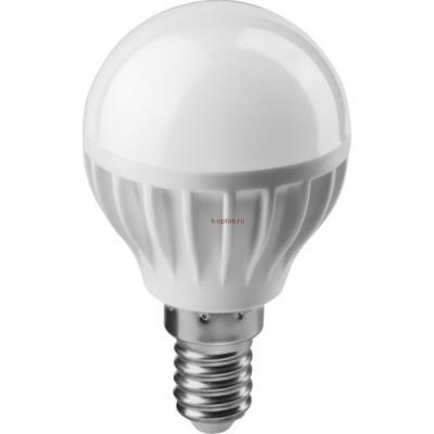 Лампа светодиодная LED 6вт E14 белый матовый шар ОНЛАЙТ
