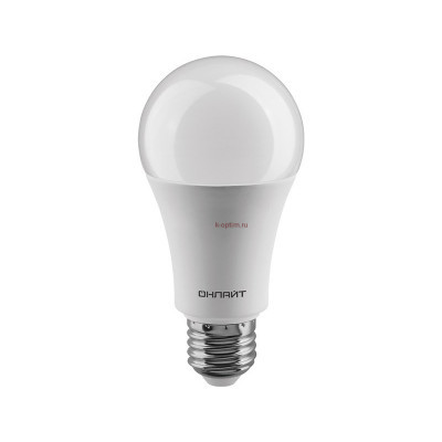 Лампа светодиодная LED 10вт Е27 теплый ОНЛАЙТ