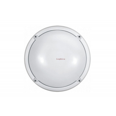 Светильник светодиодный ДБП-12w 4000К 900Лм круглый пластиковый IP65 белый ОНЛАЙТ