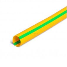 Термоусадочная трубка ТНТ нг-LS-12/6 желто-зеленая в метровой нарезке с коэффициентом усадки 2:1