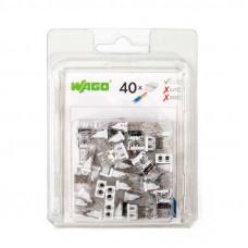 Набор миниатюрных клемм Wago 2273–202 без контактной пасты