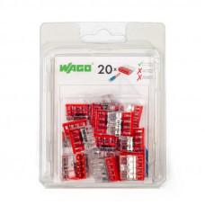 Набор миниатюрных клемм Wago 2273–204 без контактной пасты